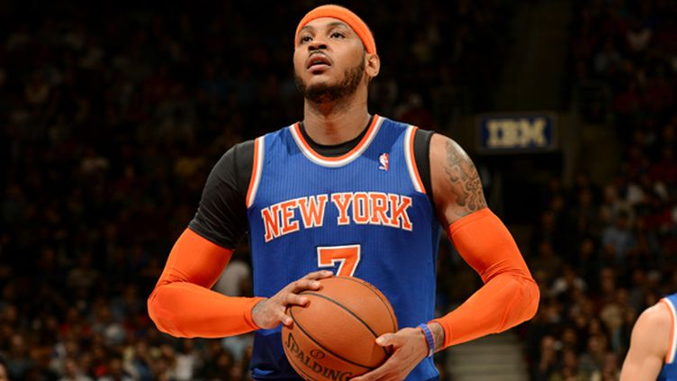 Carmelo Anthony sous le maillot des Knicks (RON TURENNE / NBAE / GETTY IMAGES)