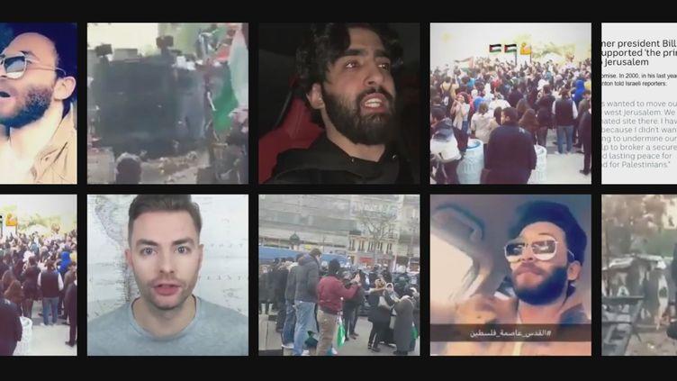 Des internautes réagissent à la décision du président américain Donald Trump de reconnaître Jérusalem comme la capitale d'Israël, prise le 6 décembre 2017. (FRANCEINFO)