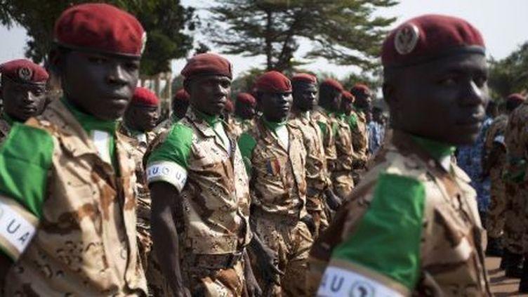 Soldats tchadiens en Centrafrique. (AFP)