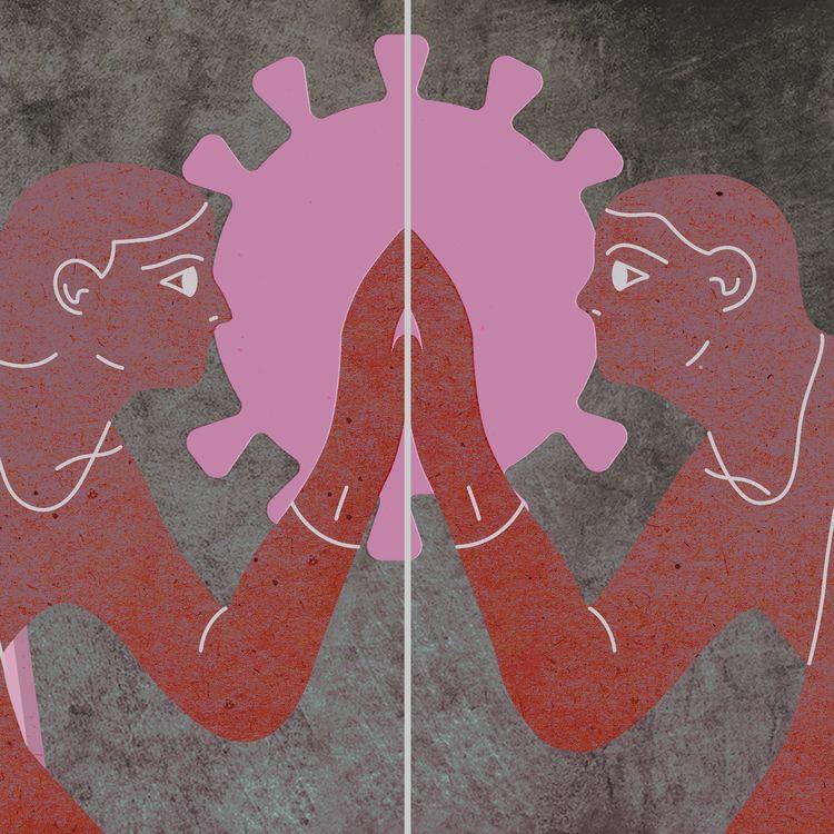 La crisedu Covid-19 et les mesures sanitaires qui en découlent sont un frein aux rencontres amoureuses et à la séduction. (JESSICA KOMGUEN / FRANCEINFO)