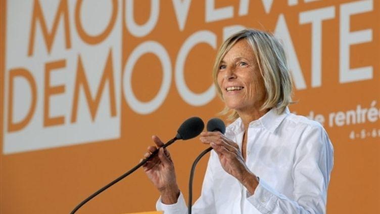 Marielle de Sarnez, vice présidente du MoDem reproche à Ségolène Royal sa main tendue aux représentants locaux du MoDem. (AFP - Pascal Guyot)