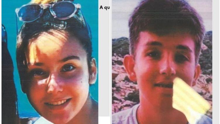 Les photos de Lana Carron (à gauche) et Edouard Lapeyre (à droite) dans l'appel à témoins lancé par la police nationale du Var, le 7 octobre 2021. (Police nationale du Var)