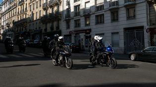 Une unité de Brav-M mobilisée lors de la Marche pour le climat à Paris le 21 septembre 2019. (MICHAEL BUNEL /  MAXPPP)