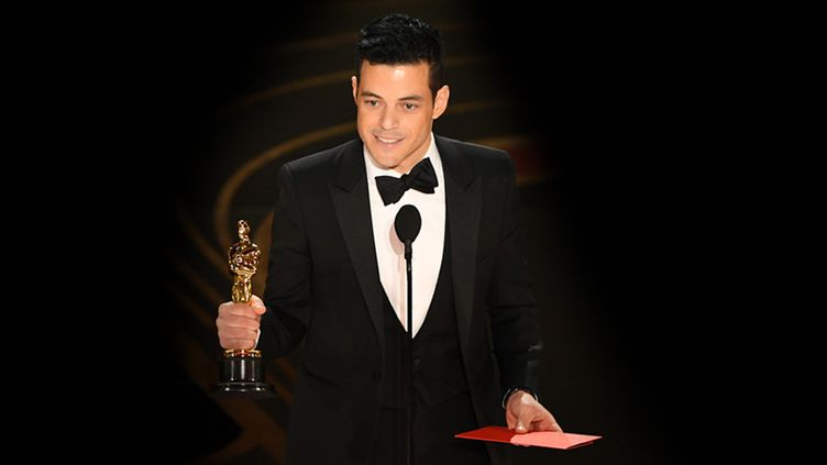 Rami Malek lors e la Cérémonie des Oscars, 24 février 2019  (VALERIE MACON / AFP)