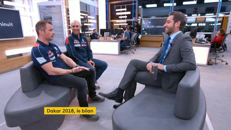 Sébastien Loeb et Stéphane Peterhansel (FRANCEINFO)