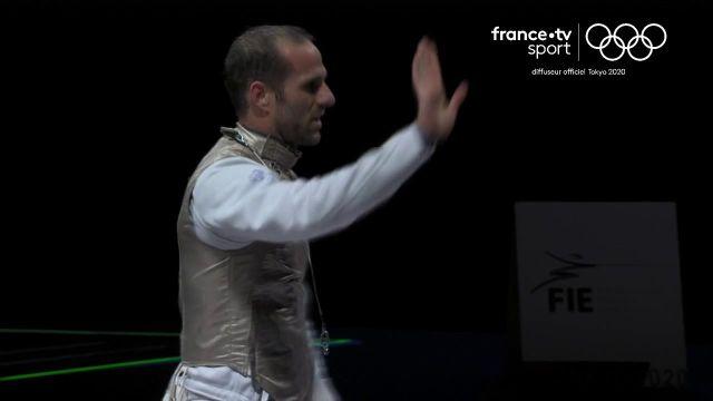 Erwann Le Péchoux permet à la France de battre le Japon 45-42 pour rejoindre les Russes en finale du fleuret par équipes.