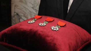 Une cérémonie de remise de la Légion d'honneur à New York (Etats-Unis), le 22 septembre 2014. (ANDREW TOTH / GETTY IMAGES NORTH AMERICA / AFP)