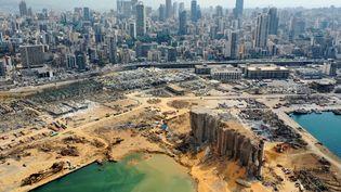 Une vue aérienne du port de Beyrouth, le 7 août 2020, au Liban. (AFP)