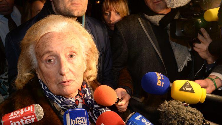 Bernadette Chirac après sa victoire dans le canton de Corrèze (Corrèze), le 29 mars 2015. (MEHDI FEDOUACH / AFP)