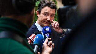 L'ancien candidat à la mairie de Paris, Benjamin Griveaux, le 13 février 2020 à Paris. (CHRISTOPHE ARCHAMBAULT / AFP)