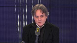 """Riss, directeur de la rédaction de """"Charlie Hebdo"""", le 7 janvier 2019. (RADIO FRANCE / FRANCEINFO)"""