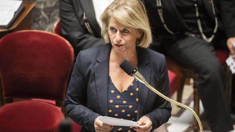 Brigtte Bourguignon le 21 juillet 2020 à l'Assemblée nationale. (VINCENT ISORE / MAXPPP)