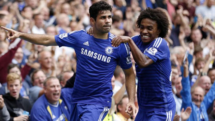 Diego Costa et Willian, buteurs contre Aston Villa