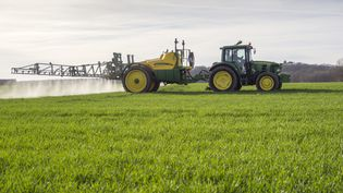 Un agriculteur répand des pesticides. Photo d'illustration. (MAXPPP)