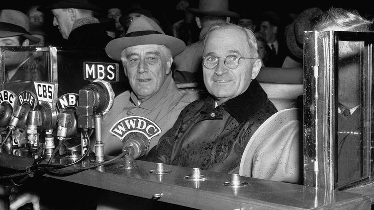 Le président Roosevelt et le vice président Truman, trois jours après leur élection à la tête des États-Unis, le 10 novembre 1944. (BETTMANN / BETTMANN)