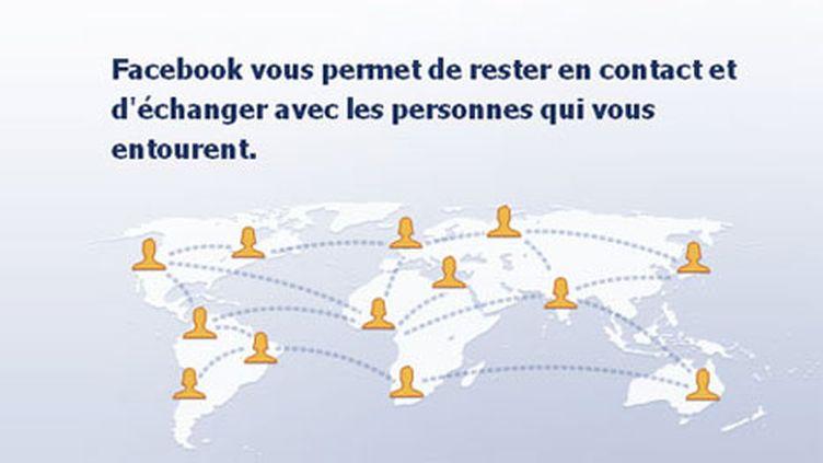 Capture d'écran de la page d'accueil de Facebook (DR)