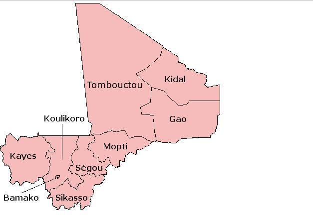 Carte du Mali, par Acntx (ACNTX / FLICKR)