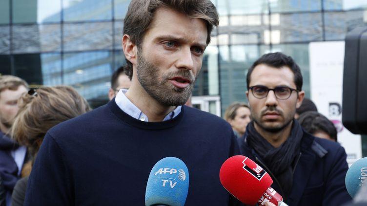 Le journaliste Antoine Genton, président de la SDJ d'I-Télé, le 17 octobre 2016. (FRANCOIS GUILLOT / AFP)