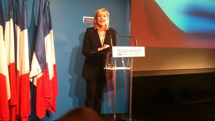 Marine Le Pen se définit comme la candidate de la rupture patriotique (DR)
