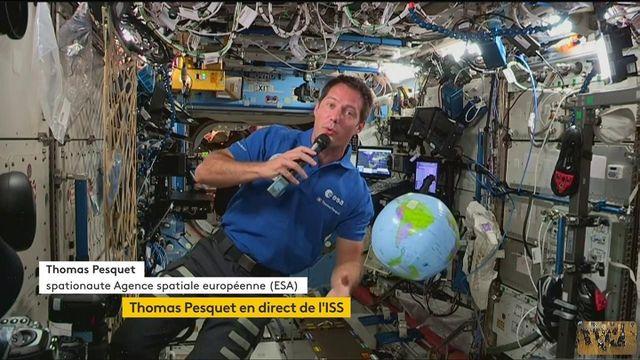 Thomas Pesquet : revivez la conférence de presse de l'astronaute français à bord de l'ISS