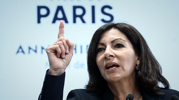 Anne Hidalgo, maire socialiste de Paris, à Paris, le 21 mars 2019. (PHILIPPE LOPEZ / AFP)
