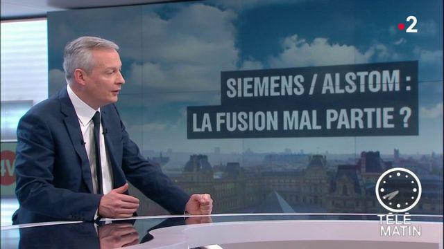 """Fusion Alstom-Siemens : le rejet de la Commission européenne serait """"une erreur économique"""" et une """"faute politique"""", selon Bruno Le Maire"""