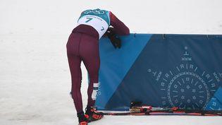 Leskieur russe Alexander Bolshunov aux Jeux olympiques de Pyeongchang (Corée du sud), le 24 février 2018. (FRANCK FIFE / AFP)