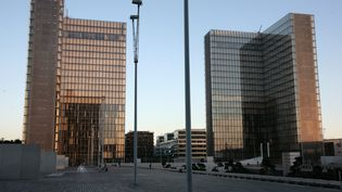 Le site de la Bibliothèque François Mitterrand (BNF), le 7 octobre 2010 à Paris. (  MAXPPP)