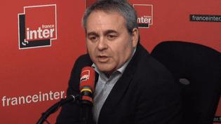 Xavier Bertrand, le président de la région Hauts-de-France,dans le studio deFrance Inter, le 21 février 2018. (FRANCE INTER / RADIO FRANCE)