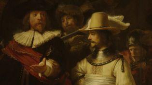 Le tableau ronde de nuit de Rembrant est décrypté par le synchroton de Grenoble avant d'être restauré (CAPTURE D'ÉCRAN)