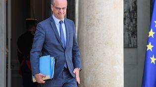 Jean-Michel Blanquer, ministre de l'Education nationale, sur le perron de l'Elysée, le 22 juillet 2020. (ALAIN JOCARD / AFP)