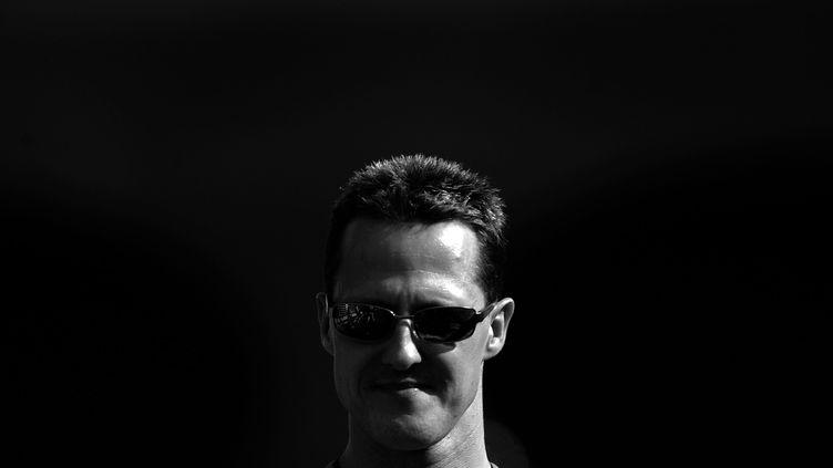 Le pilote allemand Michael Schumacher sur le circuit d'Hockenheim (Allemagne), en juillet 2006. (VLADIMIR RYS / BONGARTS/ GETTY IMAGES)