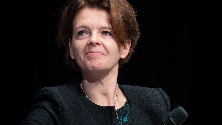Caroline Parot, présidente du directoire d'Europcar. (CHRISTOPHE MORIN / MAXPPP)