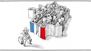 La couverture du «Petit manuel du parfait réfugié politique». Bienvenue dans les méandres de l'administration française ! (Mana Neyestani - Arte Editions)