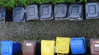 Des poubelles, entreposées dans une cour de Berlin, le 30 septembre 2010. (JOHANNES EISELE / AFP)