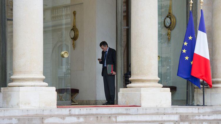 Jérôme Cahuzac, au palais de l'Elysée à Paris, le 10 janvier 2013. (BERTRAND LANGLOIS / AFP)