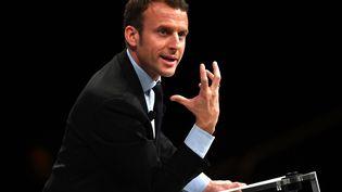 Emmanuel Macron à Montpellier, le 18octobre. (PASCAL GUYOT / AFP)