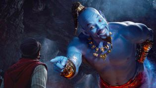 "Will Smith dans le rôle du génie d'""Aladdin"" (2019) (Walt Disney / Courtesy of Disney)"