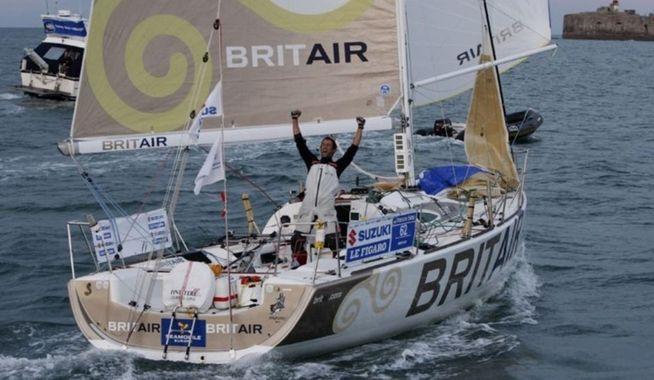 Armel Le Cléac'h vainqueur en 2010 sur Brit Air