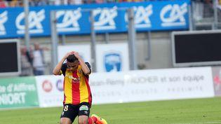 Un joueur de Lens lors de la rencontre contre Niort, le 29 juillet 2016, l'un des cinq matchs de la journée à s'être terminé par un 0-0. (MAXPPP)