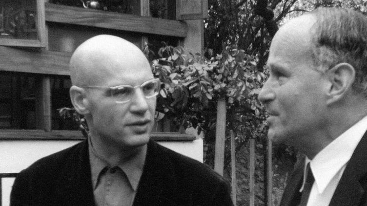 Les mathématiciens Alexandre Grothendieck (à gauche) et Laurent Schwarz (à droite)  (HO - / IHES / AFP)