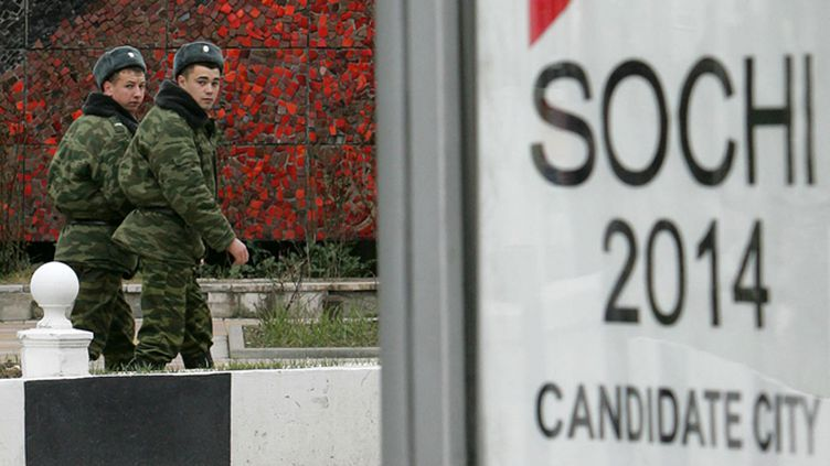 Des militaires russes à Sotchi (MAXIM MARMUR / AFP)