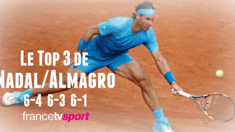 Nadal a bataillé deux manches mais s'impose en trois sets