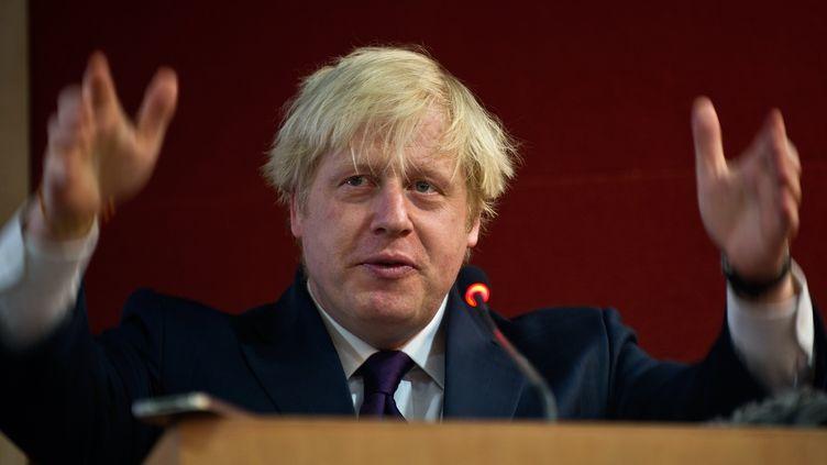 Boris Johnson, lors de savisite à New Delhi (Inde),mardi 27 novembre 2012. (MANAN VATSYAYANA / AFP)