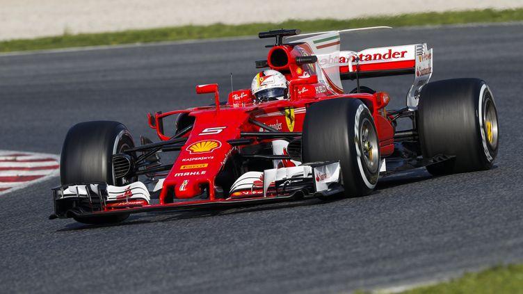 Vettel a signé le meilleur temps du 3e jour à Barcelone. (FLORENT GOODEN / DPPI MEDIA)