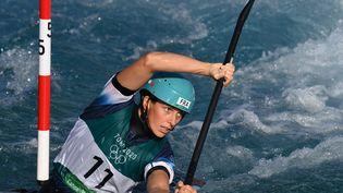 La Française Marie-Zelia Lafont, le 25 juillet 2021 aux Jeux de Tokyo. (LUIS ACOSTA / AFP)