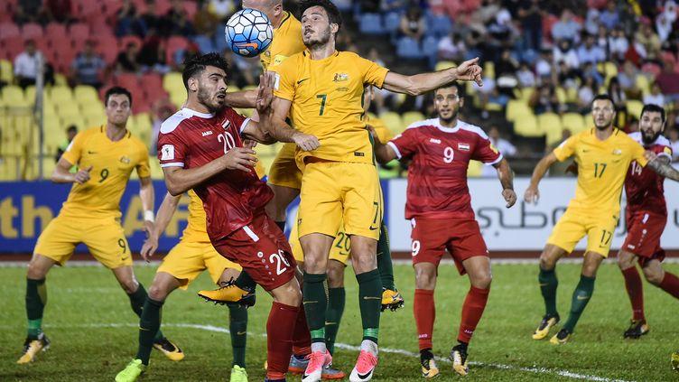 Matthew Leckie (Australie) contre la Syrie (MOHD RASFAN / AFP)