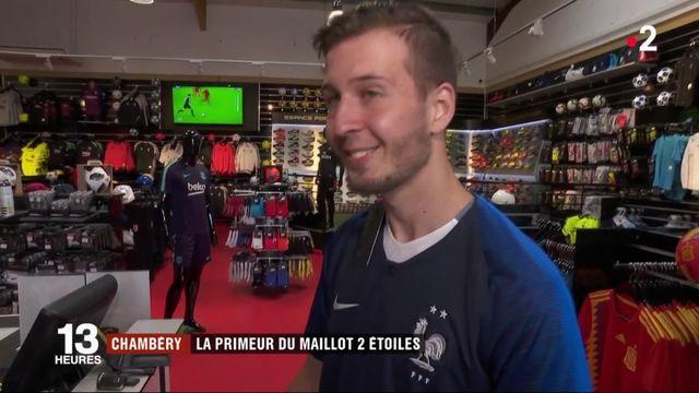 Chambéry : la primeur du maillot 2 étoiles de l'équipe de France