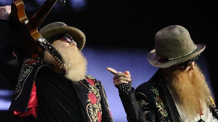 Dusty Hill (à gauche) et Billy Gibbons (à droite) de ZZ Top au Hellfest à Clisson (22 juin 2013)  (Jean-Sébastien Evrard / AFP)