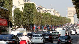 L'avenue desChamps-Elysées, à Paris, le 13 août 2018. (MUSTAFA YALCIN / AFP)